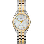 Timex Tw2R484009J Womens Briarwood Stainless Steel Expansion Band, Gold/Silver