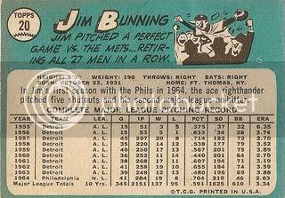 #20 Jim Bunning (back)