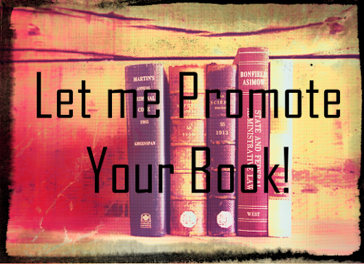 I will promote your book on my book blog
