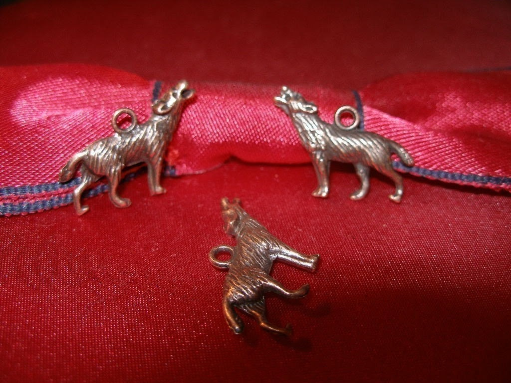 WOLF BLOWOUT - buy 2 lots, get a 3rd free -   Copper wolf charms or pendants 12 for the old price of 10 -  Team ESST, paganteam,  olyteam