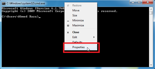 To Enable Copy Paste Option In Cmd