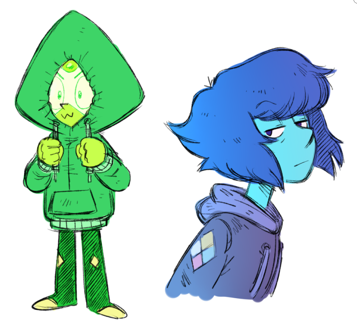 gems wearing hoodies