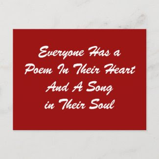 Everyone Has a Poem Postcard postcard