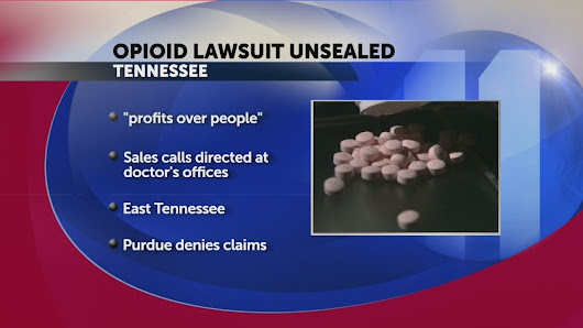 TN unsealed lawsuit: OxyContin, opioid maker placed profits over people - WJHL