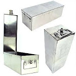 Oversized 12 Inch Metal Storage Lock Box with Handle