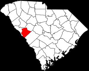 Map of South Carolina highlighting Edgefield C...