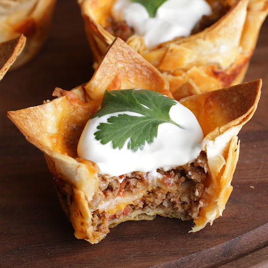 Crunchy Taco Cups Recipe by Tasty