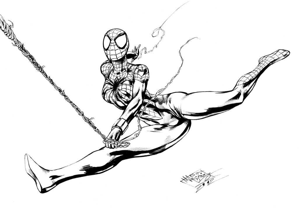43 Top Coloring Pages Spider Girl Images & Pictures In HD