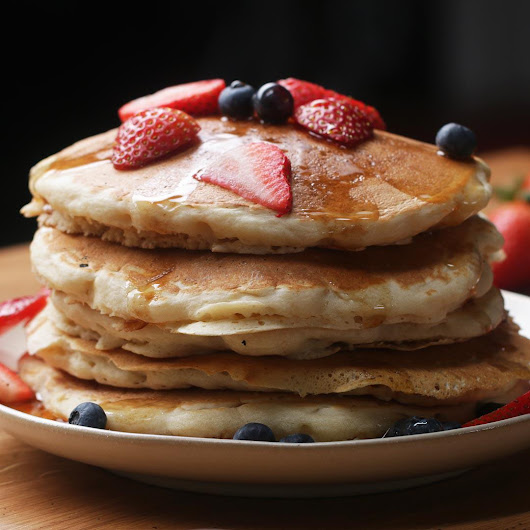 The Fluffiest Vegan Pancakes Recipe by Tasty