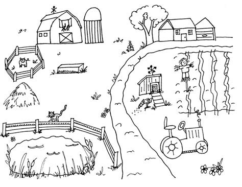 farm coloring pages getcoloringpagescom