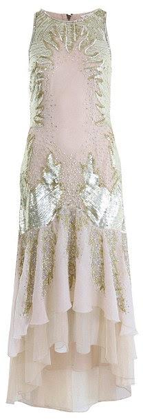 Altın süslenmiş maksi elbise, £ 120, Miss Selfridge