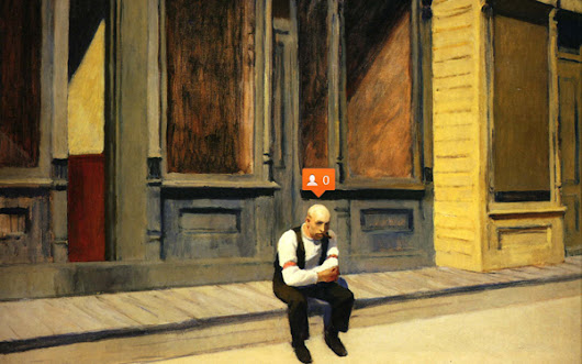Adding Social Media Icons to Edward Hopper Paintings Makes Them Extra Sad and Fantastic