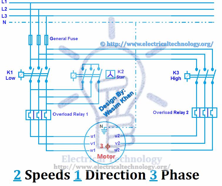 6 Lead 2 Speed Motor Wiring Diagram