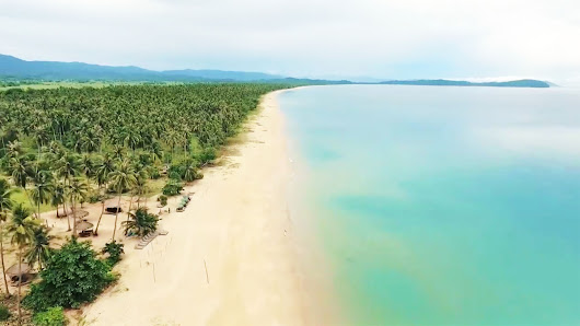 Drone Video of The Longest White Beach in the Philippines | Tourist Spots Finder