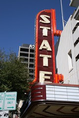 state theater sign in the sun