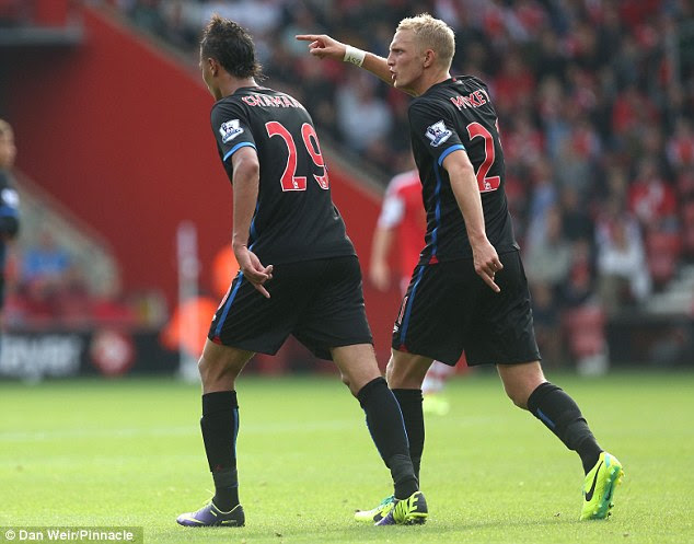Bust up: Marouane Chamakh's and Dean Moxey's fallout continued in the Crystal Palace dressing room