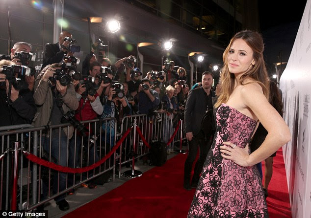 Carpet ready! The actress struck a sultry pose for a gang of photographers