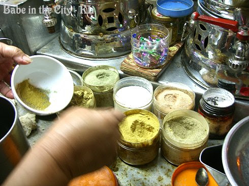 All sorts of herbs in powdered form