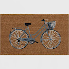 """Threshold 20""""x30"""" Outdoor Doormat - Bicycle, Multi-colored"""