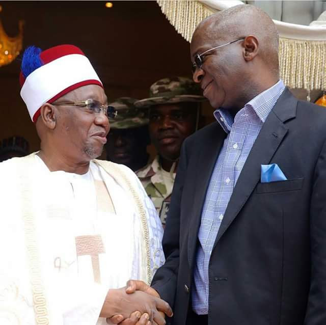 Fashola with Shehu of Borno