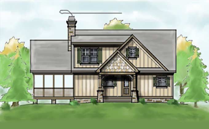 Narrow  Lot  House  Plan  for Lake Lots  Max Fulbright Designs