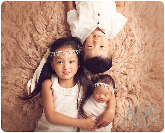 Newborn Photography Session with Siblings in South Jersey