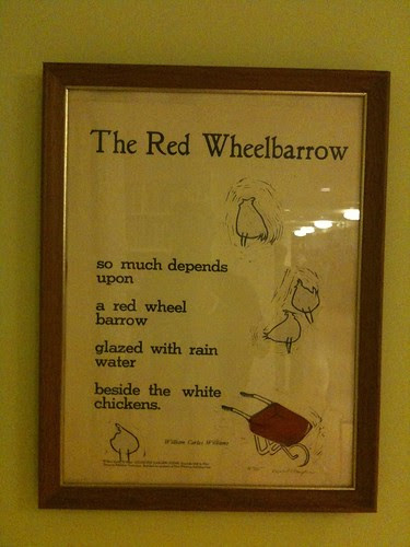 William Carlos Williams broadsheet, @ Poets House