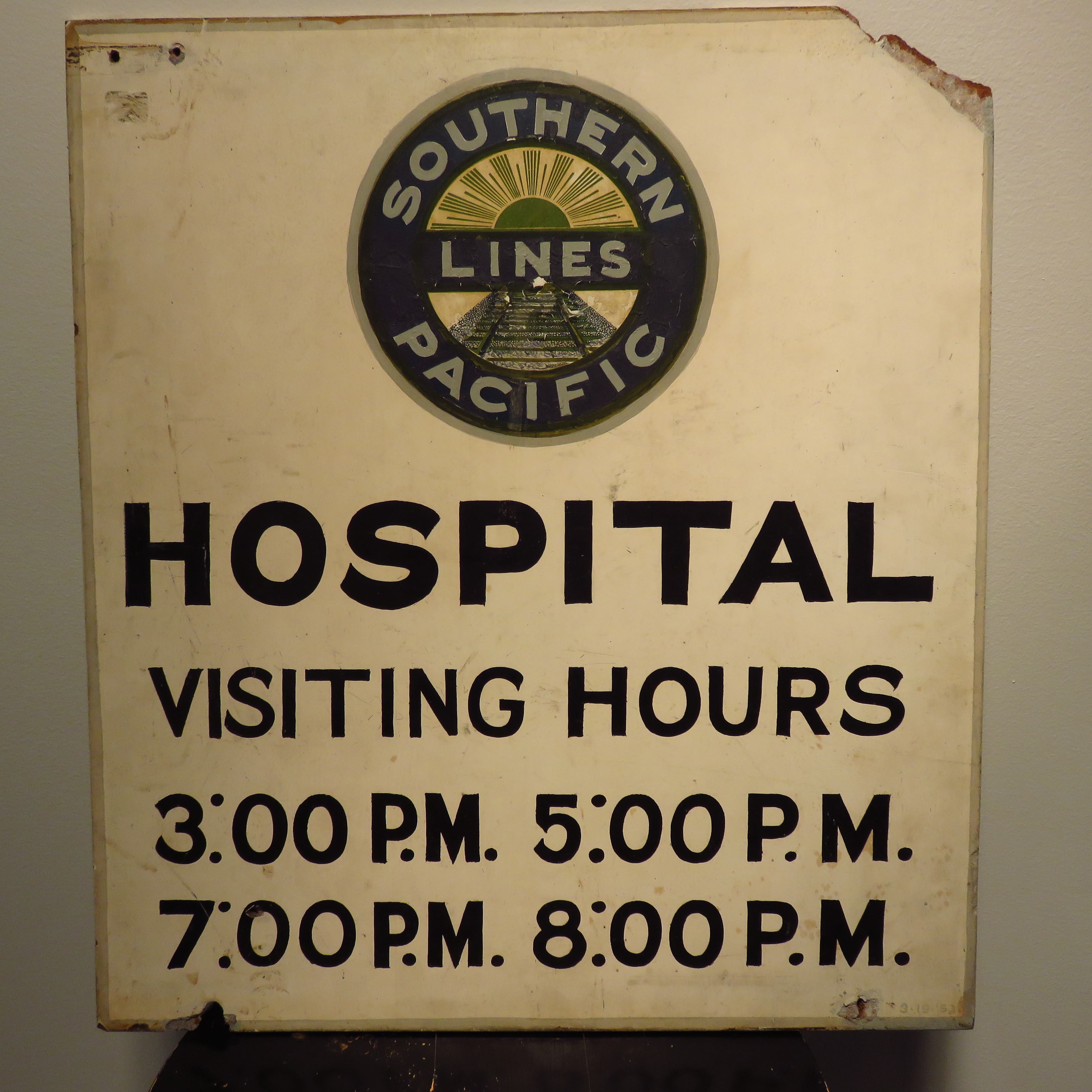 Southern Pacific Hospital Sign
