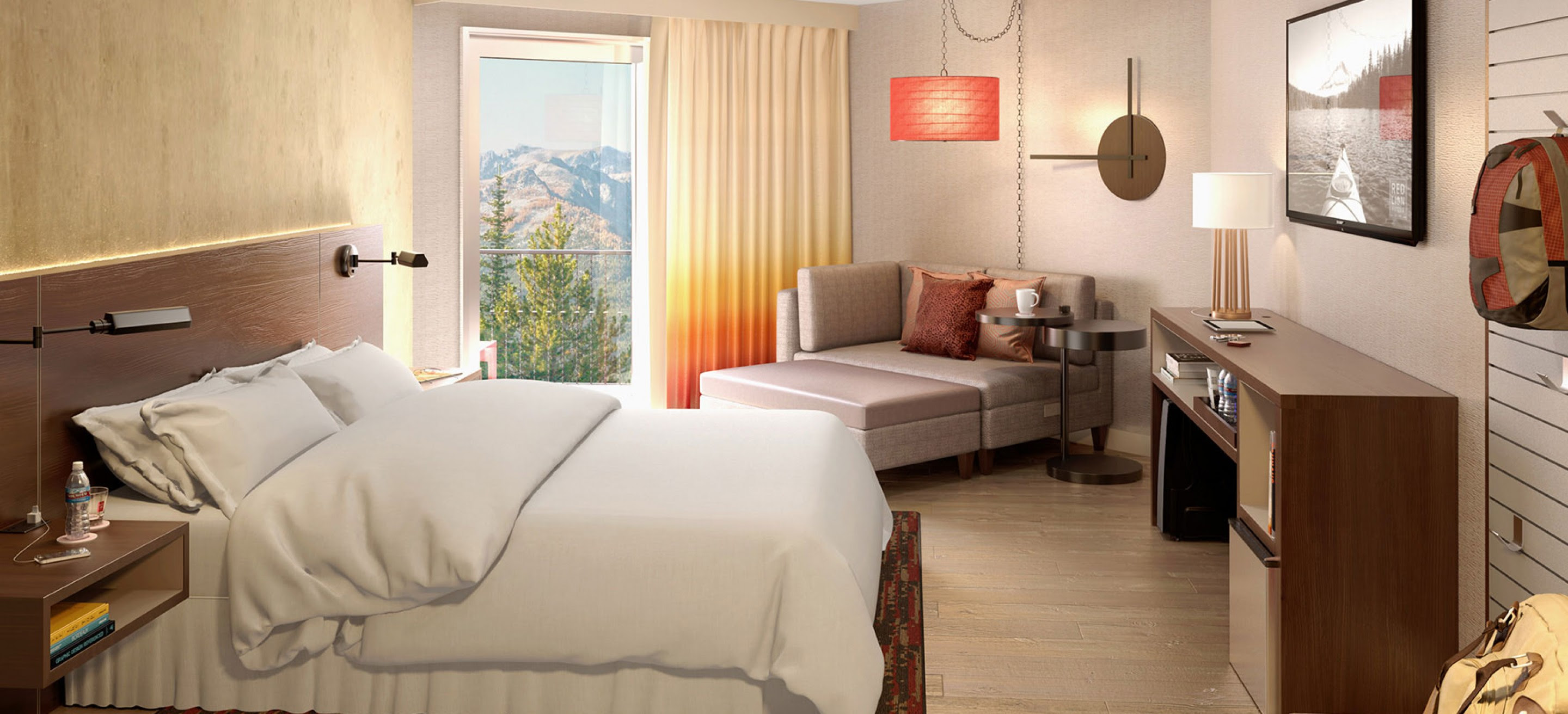 Image result for red lion hotel guestroom interior