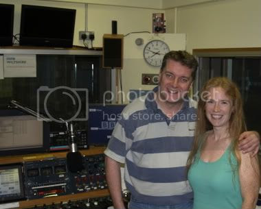 Becky With Graham Rogers at BBC Wiltshire1