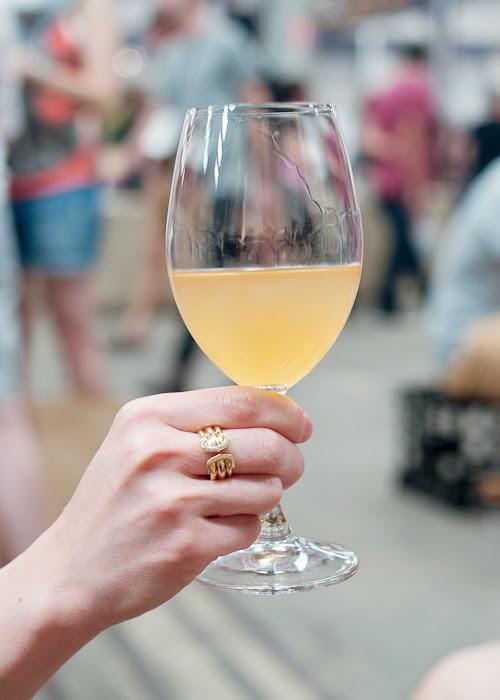 2012 Serragghia Bianco Zibibbo orange wine at the Sunday Marketplace, Rootstock Sydney 2014