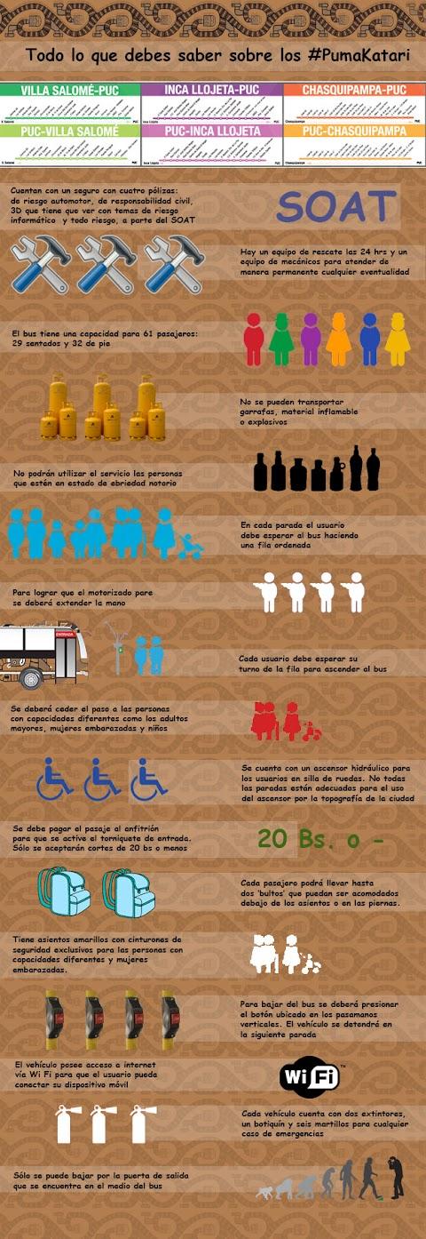 Todo lo que debes saber sobre los #PumaKatari (Infografía)