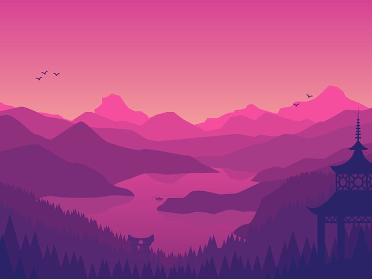 Vector Art Landscape At Getdrawingscom Free For Personal Use