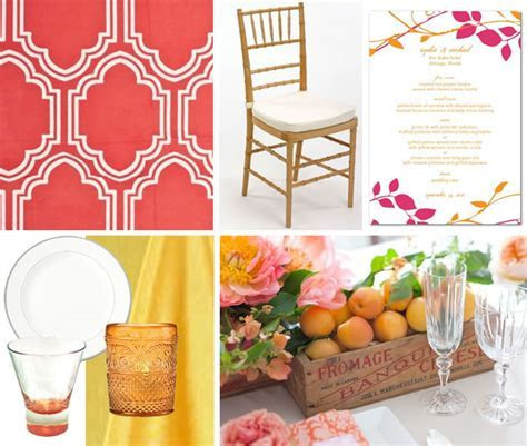 Tabletop Inspiration: Pink, Yellow and Coral   Floridian