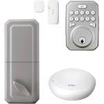 MiLocks - Door lock - key, electronic - smart lock - touch keypad - Z-Wave - silver