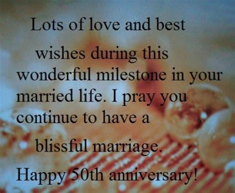 Happy 50th wedding anniversary wishes and sayings to write