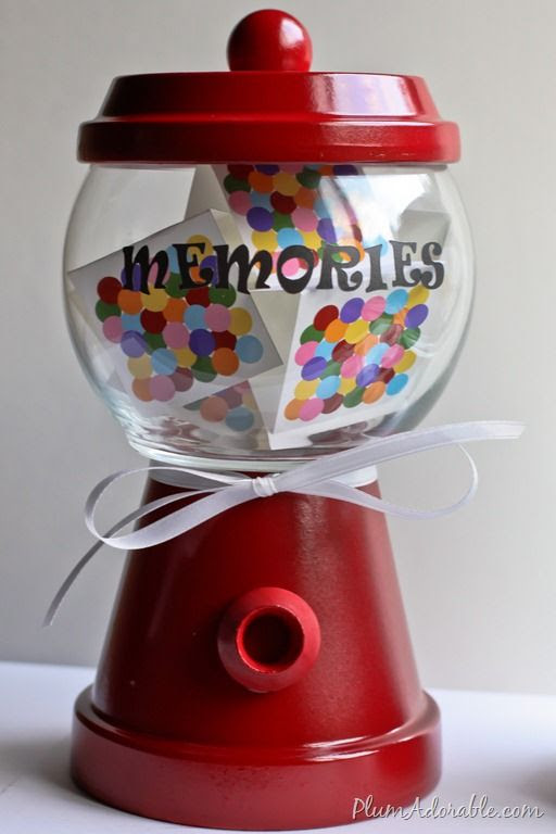 DIY memories gumball machine
