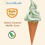 "Salted Caramel Vegan waffle cone 2.16"" x 5.5"" (312 units / Box) by Aussieblends"