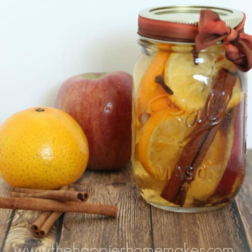 The Scent of Fall: Easy Simmering Pot Recipe and Mason Jar Gift - The Happier Homemaker