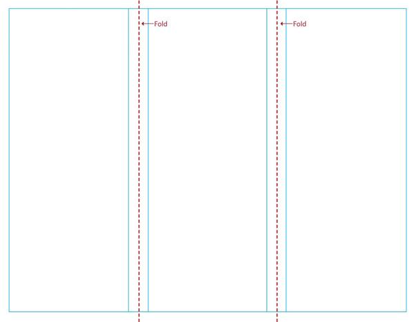 Blank Tri Fold Brochure Template Word