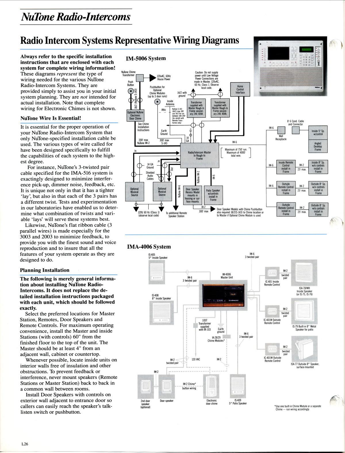 27 Nutone Intercom Wiring Diagram