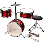 Spectrum Junior Drum Kit in Rockstar Red