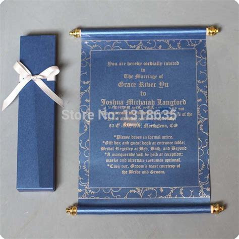Scroll Wedding Invitation Card   Arabic Wedding Card
