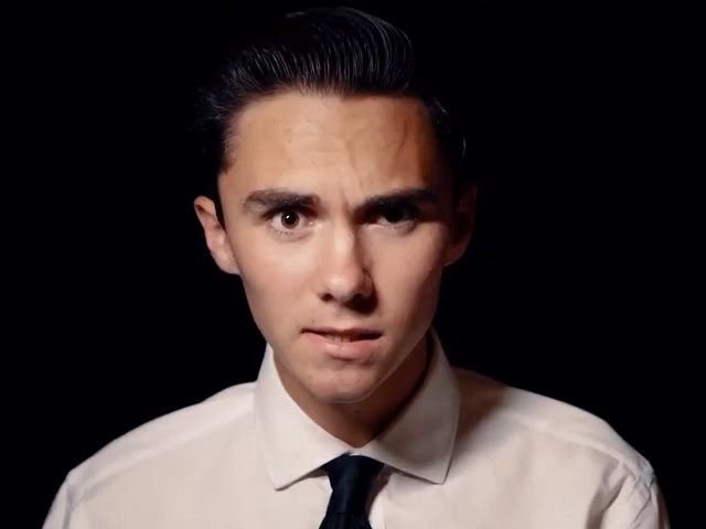 "David Hogg in a video advertising the ""March for Our Lives"" gun control demonstration."