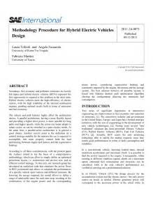 (PDF) Methodology Procedure for Hybrid Electric Vehicles
