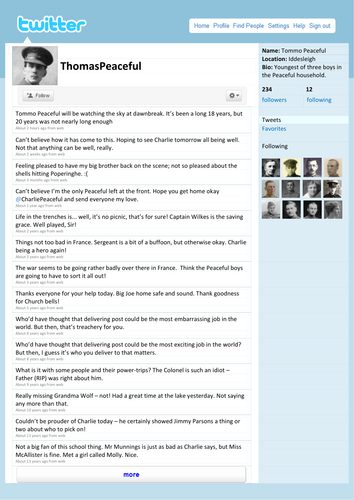 Twitter Template by tafkam - Teaching Resources - TES