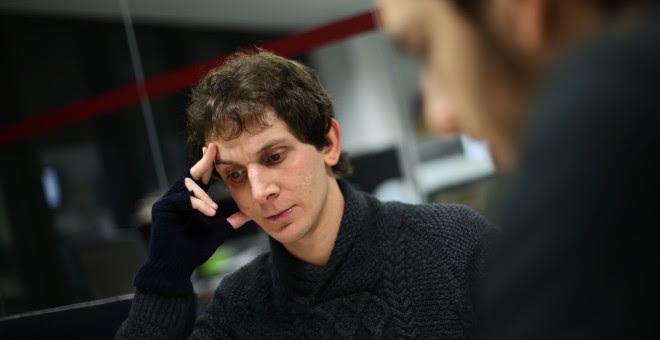 David Jorge en la redacción de 'Público'.- JAIRO VARGAS