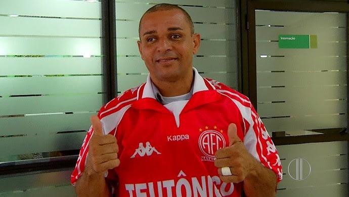 Carioca - ídolo do América-RN (Foto: Reprodução/Inter TV Cabugi)
