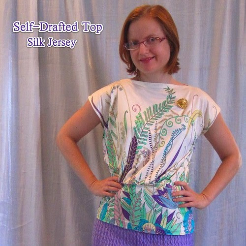Silk Jersey Self-Drafted Top