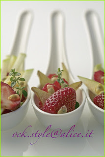 Fruits - Salad in Chinese Spoons